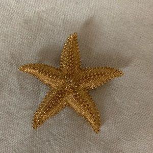 Vintage Monet Starfish Brooch